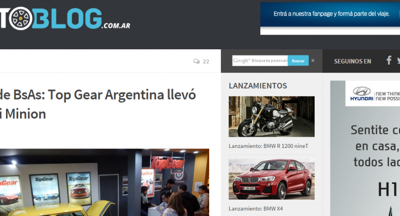 Caso de éxito: Autoblog en el salon del automovil Buenos Aires