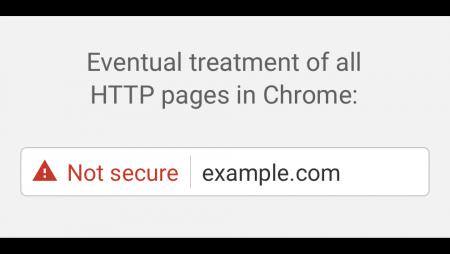 Si no tenes SSL, Chrome mostrará tu sitio como inseguro